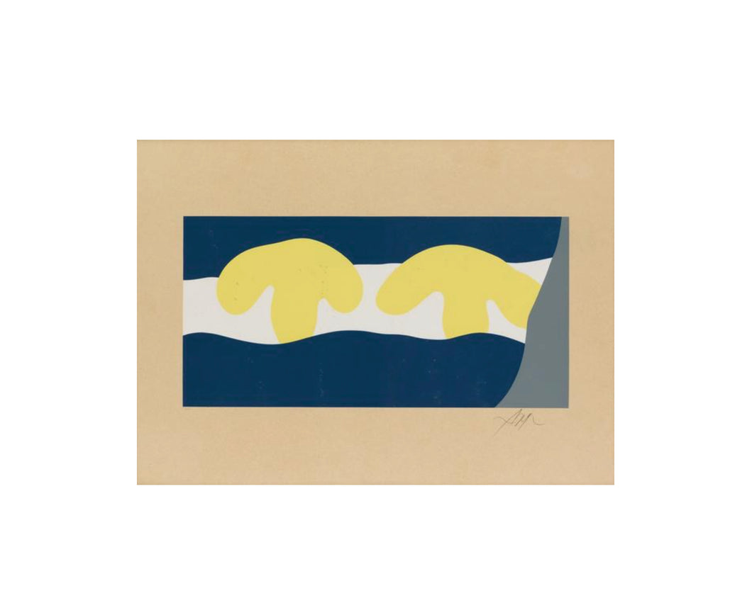 Jean Arp color screen-print c. 1959