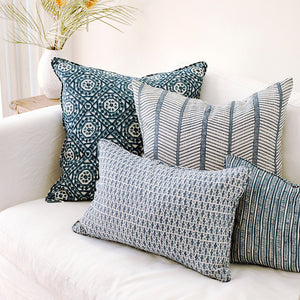 "Jaisalmer Denim Linen Cushion 22"" x 22"""