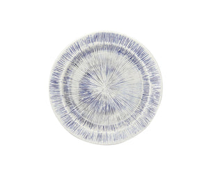 Hand-Carved Blue & White Glazed Plates
