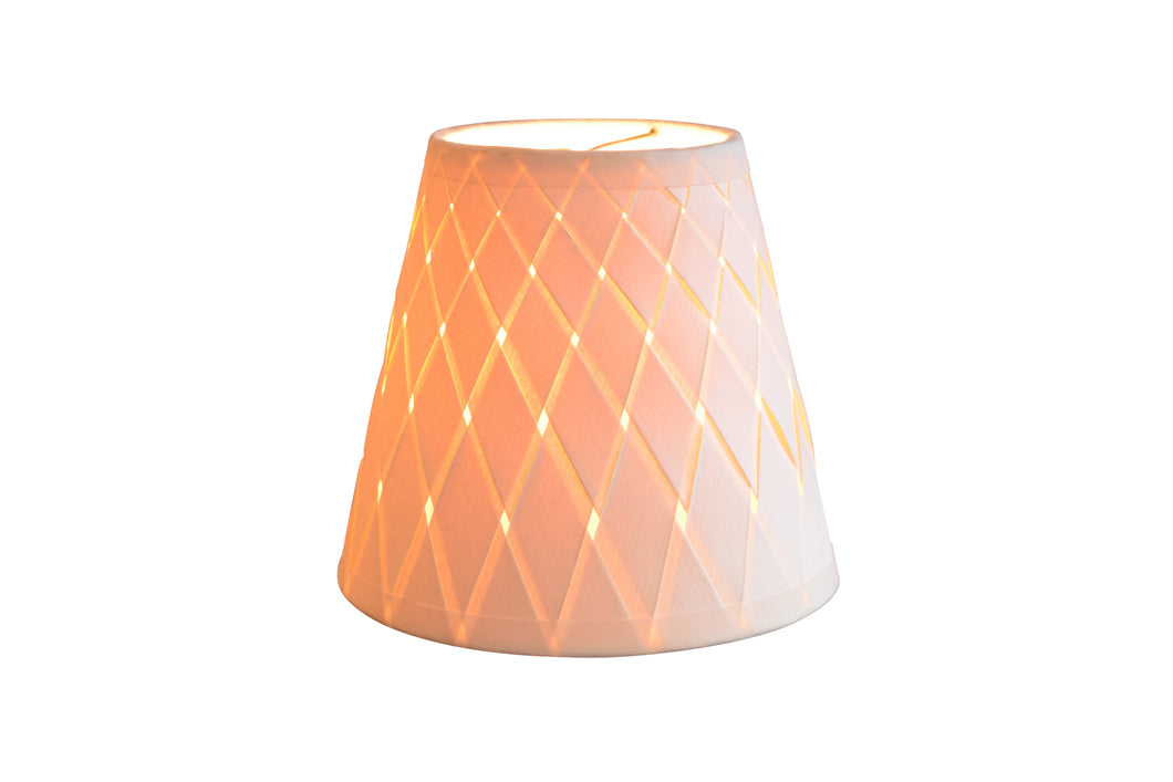 Woven Paper Chandelier Lampshades