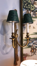Hand-Marbelized Paper Lampshades - Green Malachite