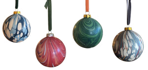 Marbelized Christmas Ornaments