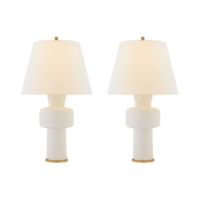 Contemporary Table Lamp in Sandy White Finish