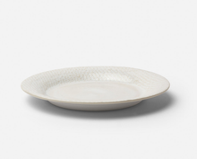Cream-Glazed Plates with Linen Texture