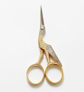 Crane Scissors with 24K Gold Layer