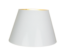 White Lacquer Lampshades with Gold Lining