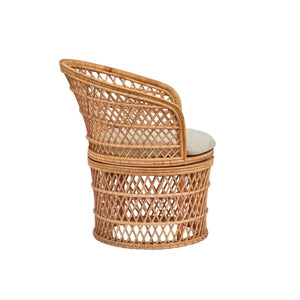 Rattan Barrel Swivel Chair