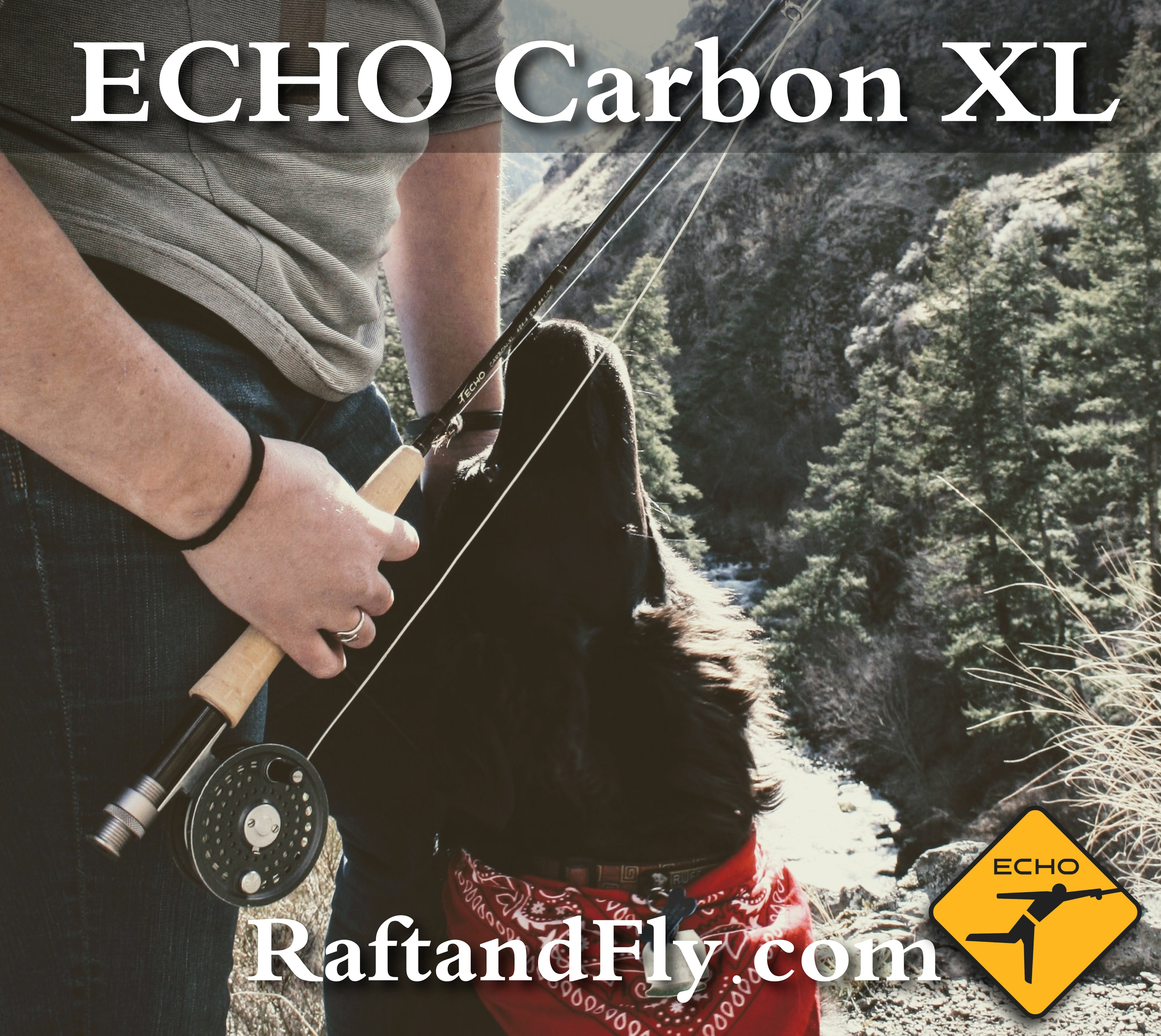 """2wt 7/'3/"""" Echo Carbon XL 273 Fly Rod Outfit"""