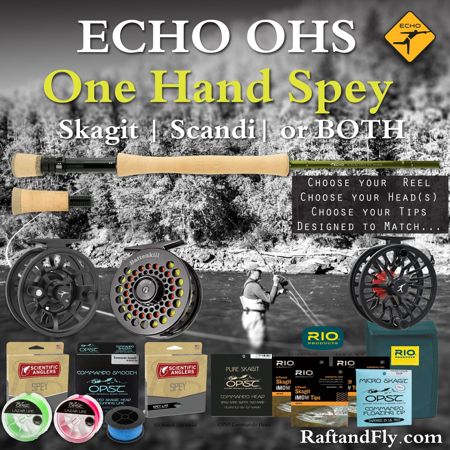 Echo OHS 7wt 4wt Trout Spey Outfit sale