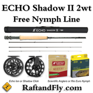 "Echo Shadow II 2wt 10'0"" Outfit - Free Nymph Line"