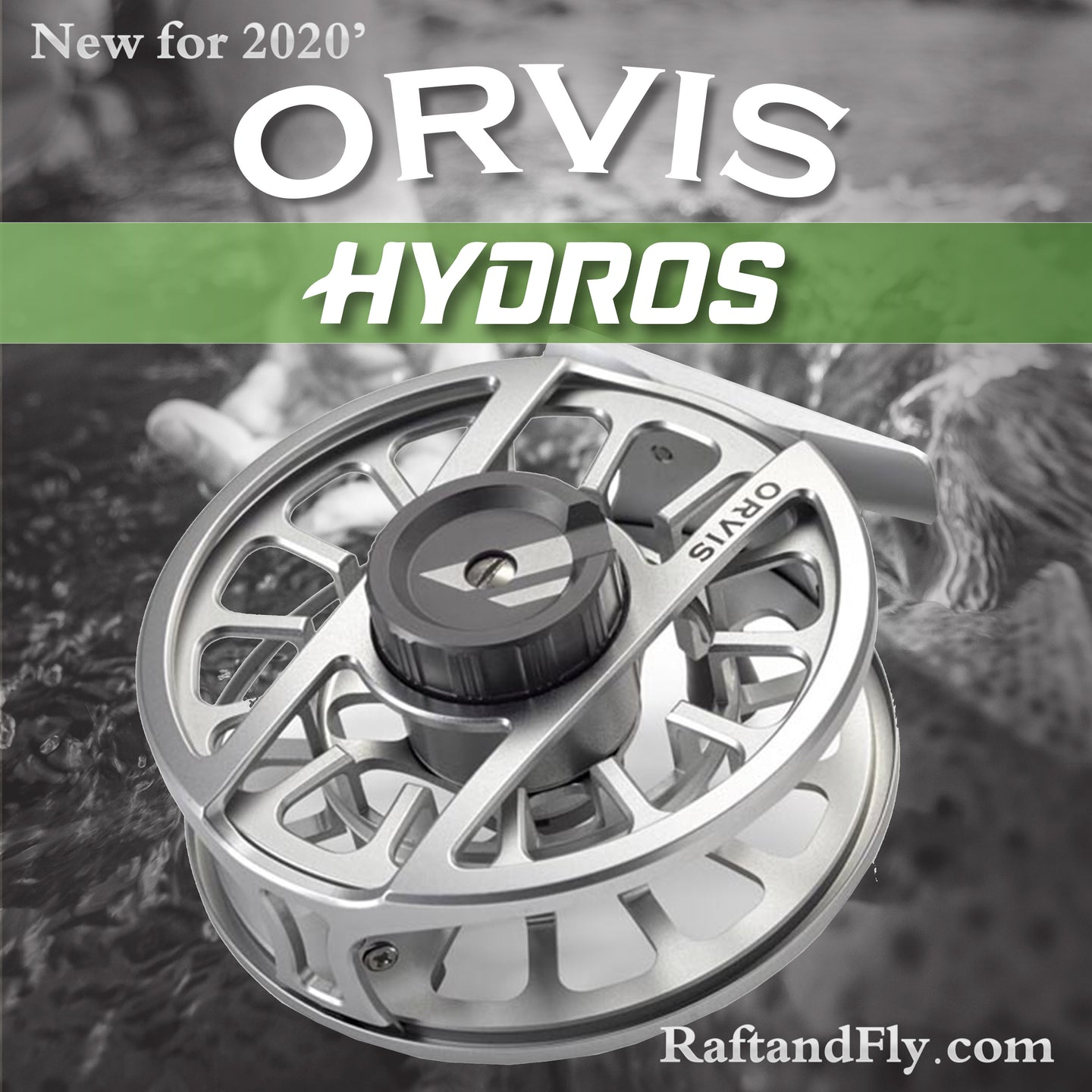 New Orvis HYDROS IV  7-9wt Silver -New 2020 Model