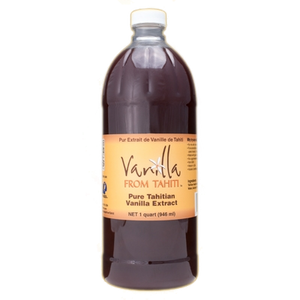 Tahitian Vanilla Extract - 1qt Double Strength