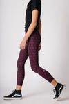 Women's 7/8 Legging - Wine Twist