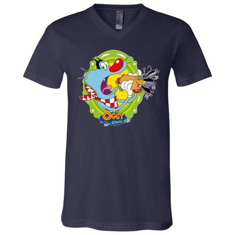 Oggy Sandwich -  Youth Short Sleeve V-Neck Jersey T-Shirt