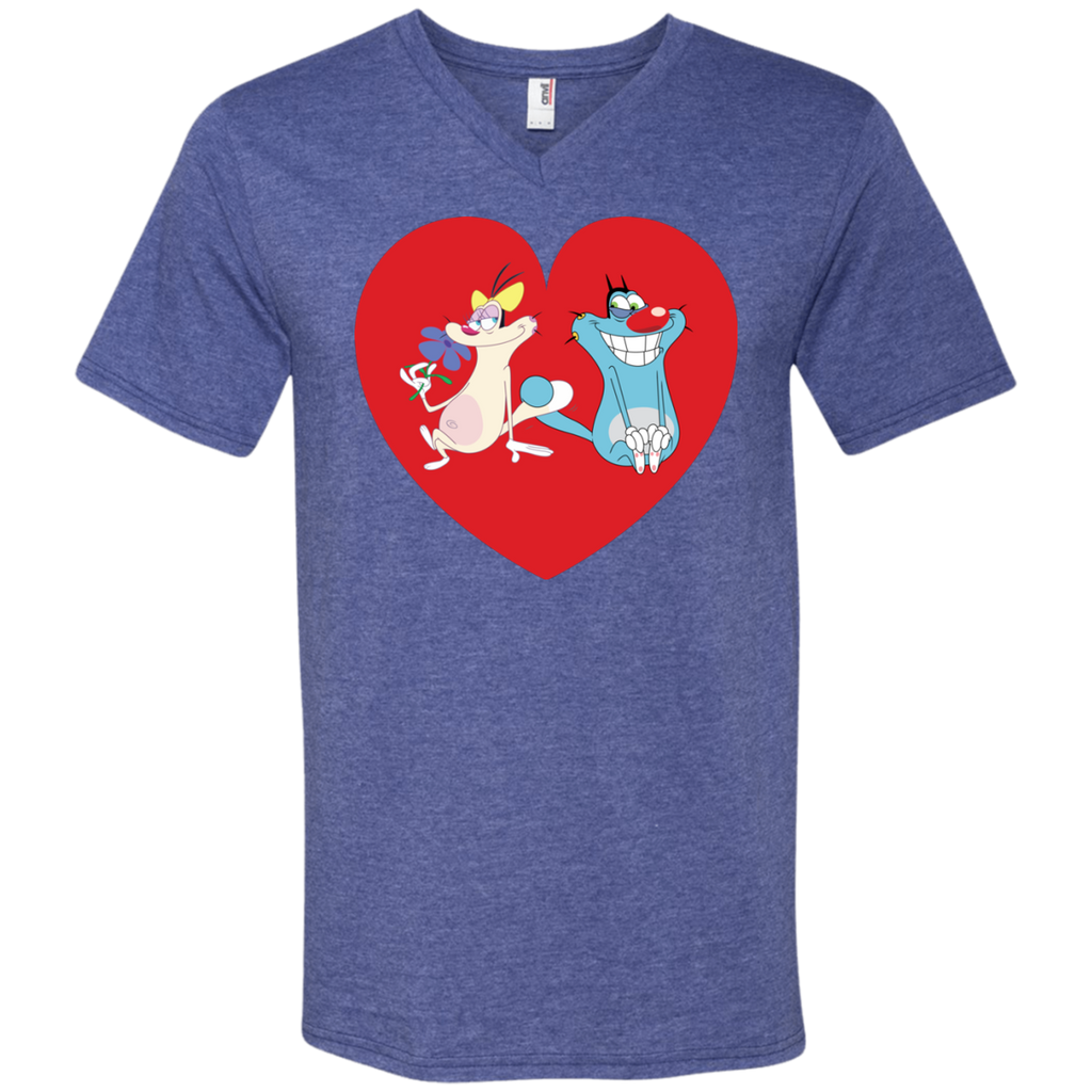 Heart - Men's Printed V-Neck T-Shirt
