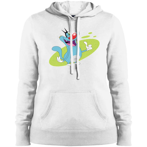 Oggy Wink - Ladies' Pullover Hooded Sweatshirt