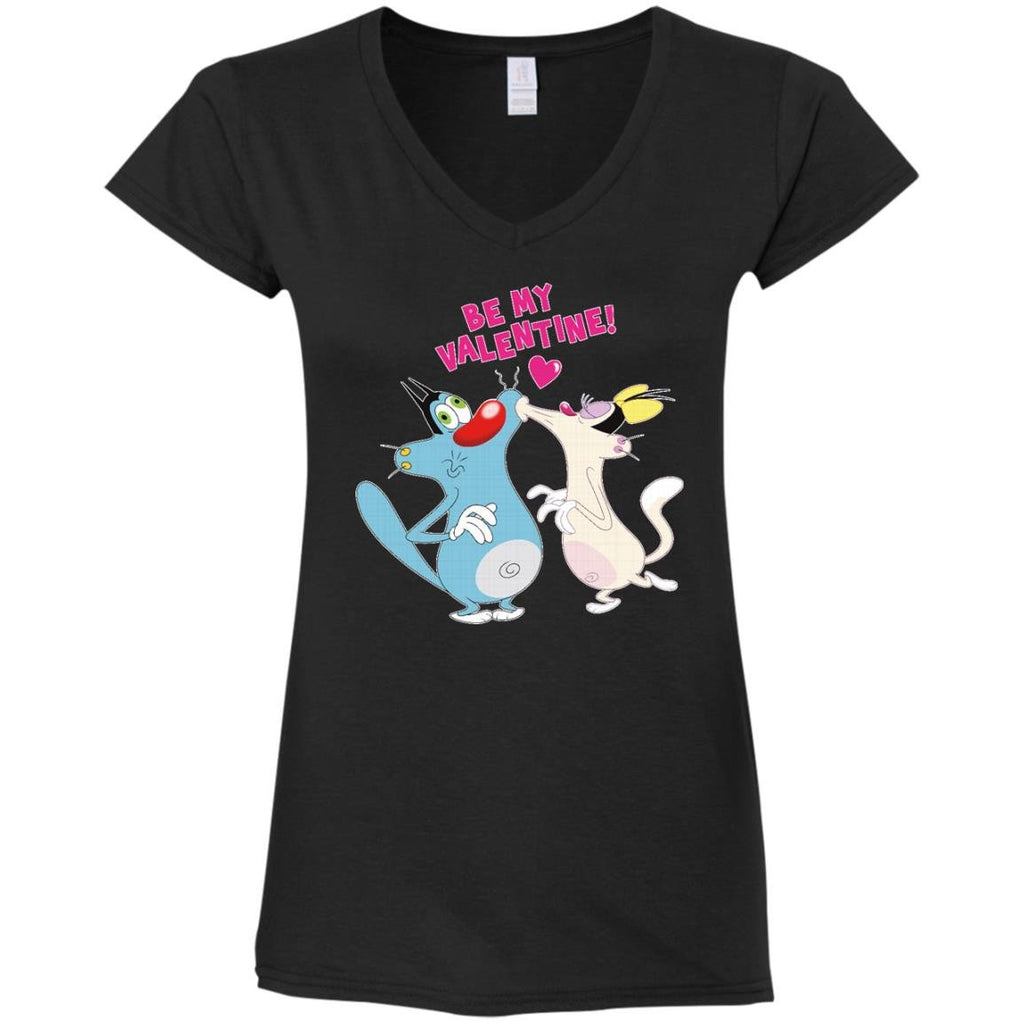 Valentine - Ladies' Fitted Softstyle V-Neck T-Shirt