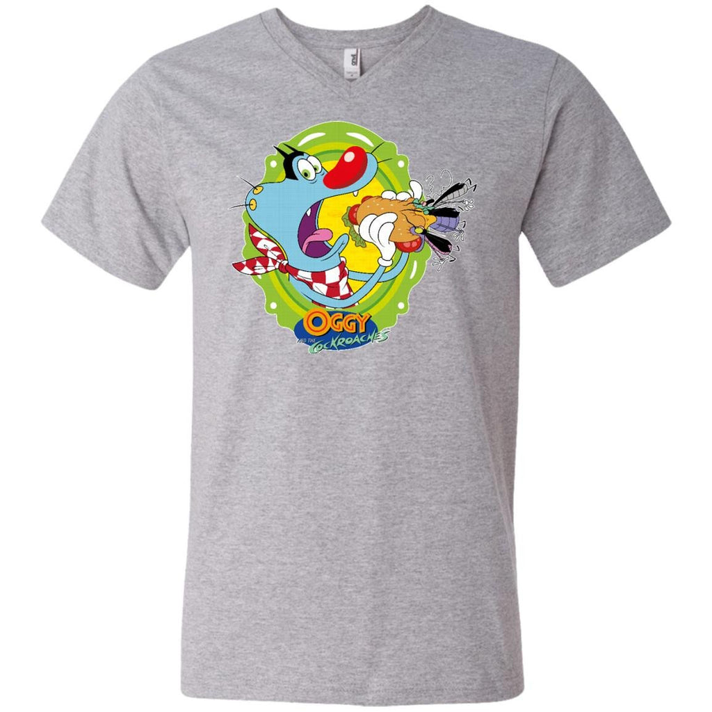 Oggy Sandwich - Men's Printed V-Neck T-Shirt