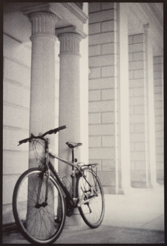 Bike, Column, Saratoga Spa Park
