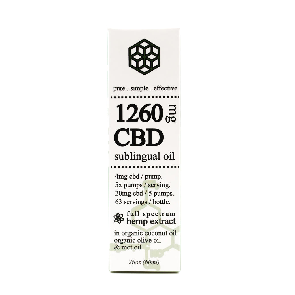 1260mg cbd organic full spectrum hemp extract sub lingual oil