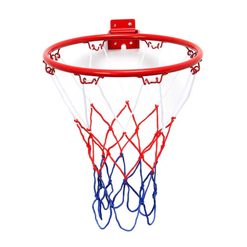 32cm/45cm Wall Mounted Hanging Basketball Goal Hoop Rim Net