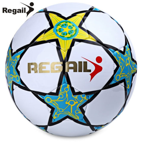Five-pointed Star PU White Synthetic Leather Football