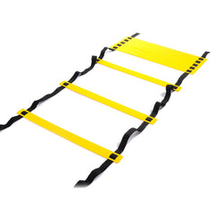 12 Rung 6M Football Training Speed Agility Ladder Black Straps
