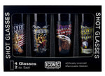 Lynyrd Skynyrd Shot Glasses Set (4 Pack) - Riles Belles