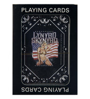 Lynyrd Skynyrd Girl with Flag Playing Cards - Riles Belles