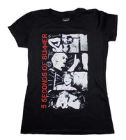 5 Seconds of Summer Stacked Photo Junior's T-Shirt - Riles Belles