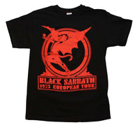 Black Sabbath Europe 75 T-Shirt - Riles Belles