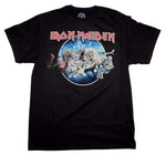 Iron Maiden Wasted Years Circle T-Shirt - Riles Belles