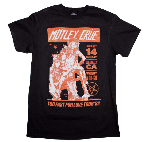 Motley Crue Vintage-Inspired Whiskey A Go Go T-Shirt - Riles Belles