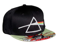 Pink Floyd Dark Side Comic Flat Bill Snapback Hat - Riles Belles