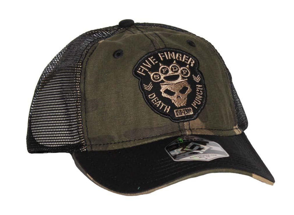 Five Finger Death Punch Camo Mesh Hat - Riles Belles