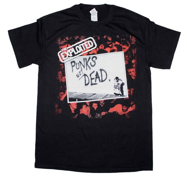 The Exploited Punks Not Dead T-Shirt Mens T-Shirts