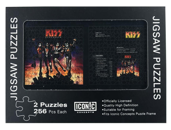 KISS Destroyer Dual Puzzle Pack (2 Puzzles) - Riles Belles