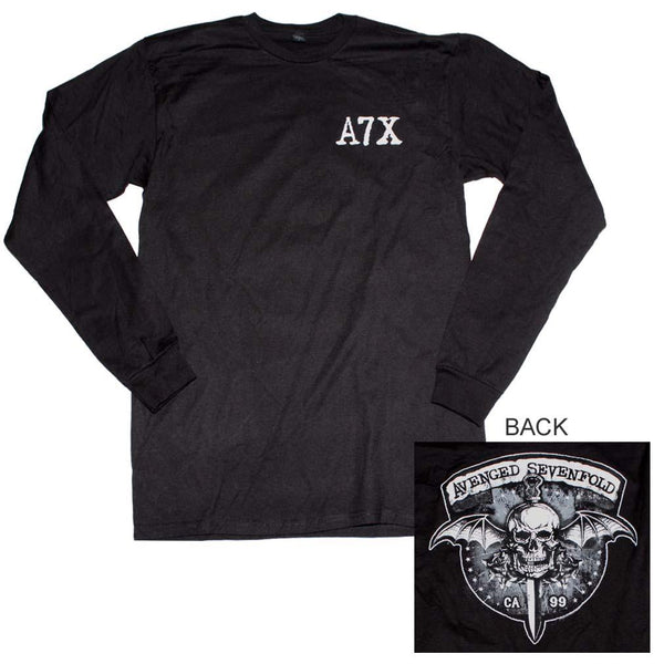 Avenged Sevenfold Biker Bat Long Sleeve T-Shirt - Riles Belles
