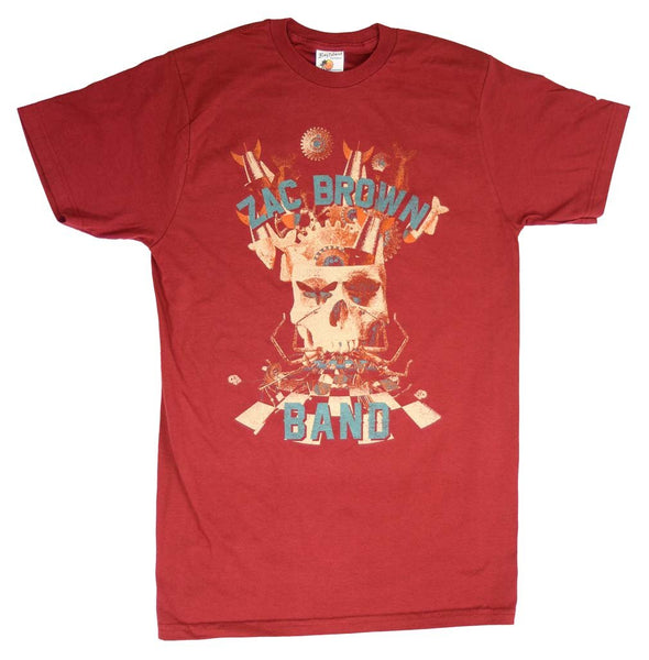 Zac Brown Band Skull Collage Soft T-Shirt Mens T-Shirts