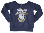 Zac Brown Band Chicken Fried Off The Shoulder Juniors Pullover Sweatshirt Womens Sweatshirts