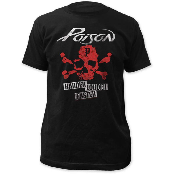 Poison Harder Faster Louder T-Shirt Mens T-Shirts
