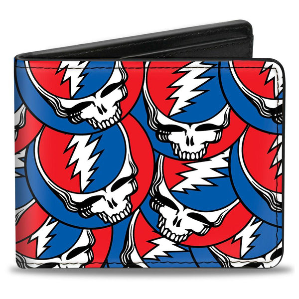 Grateful Dead Steal Your Face All Over Bi-Fold Wallet - Riles Belles