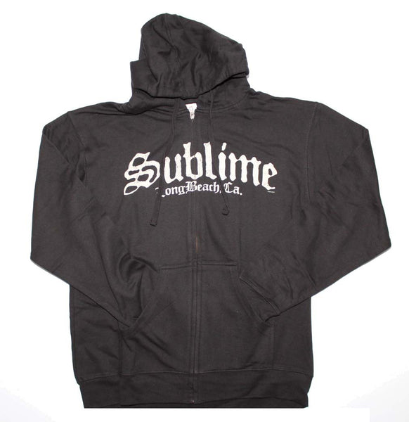 Sublime Black Logo Zip Sweatshirt Mens Sweatshirts