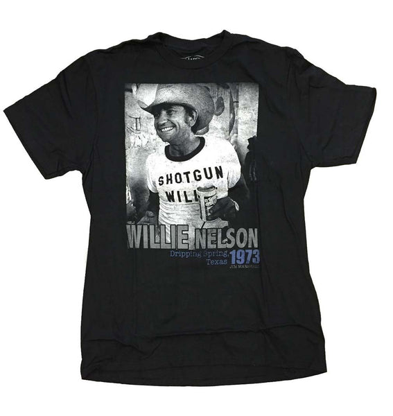 Willie Nelson Texas 1973 T-Shirt Mens T-Shirts