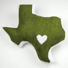 Personalized Wool Felt Texas State Throw Pillow