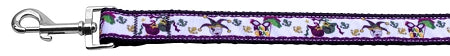 Mardi Gras Nylon Ribbon Dog Collars 1 wide 4ft Leash