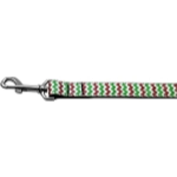 Christmas Sparkle Chevron Nylon Dog Leashes 1 inch wide 4ft Long