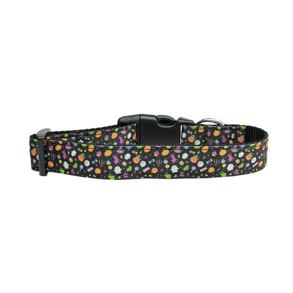 Halloween Confetti Nylon Dog Collar Large