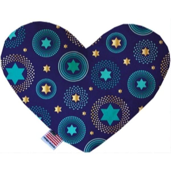 Blue Star of David Heart Dog Toy 6 Inch