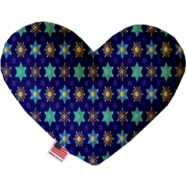Star of Davids and Snowflakes Heart Dog Toy 6 Inch